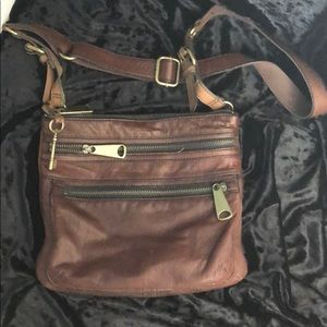 Fossil Leather Crossbody Congac Brown